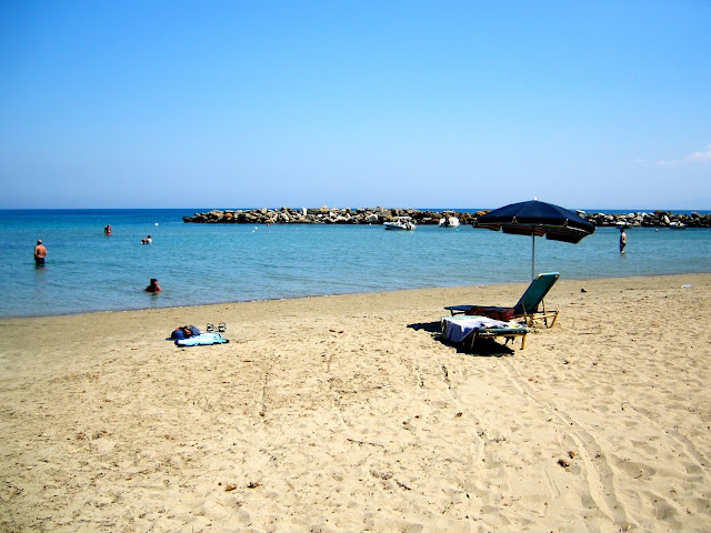Beach and ocean on Kefalonia, Greece