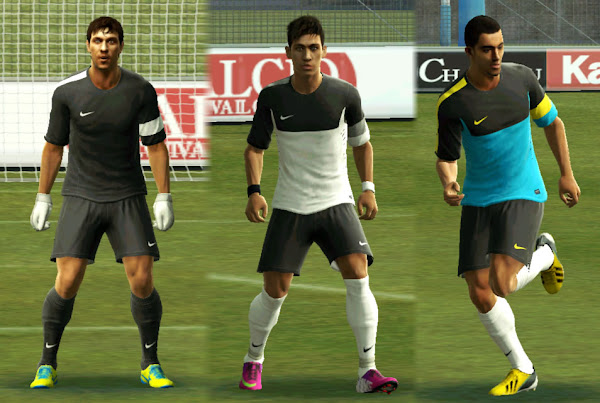 PES 2013 Nike 2012/13 Training Kits by Mateus