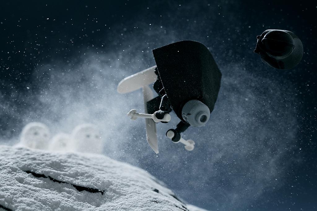fantasia de star wars lego en la nieve