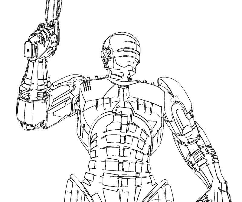 robocop coloring pages - photo#7