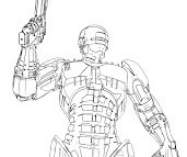 #4 Robocop Coloring Page
