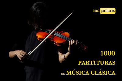 """Partituras de Música Clásica """"1000 Partituras Musicales para tocar con tu Instrumento Musical Tocapartituras.com"""
