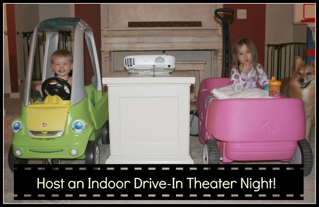 Indoor Drive-In Theater Night For Kids