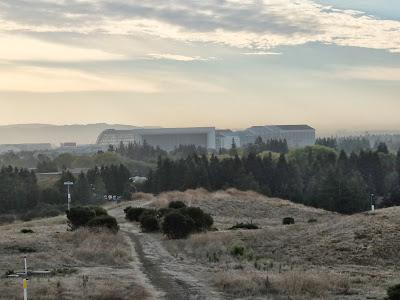 View of Moffett Field from Vista Slope