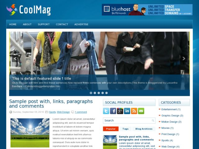 Una Plantillas para blogger incluida con SEO optimizadas para ...
