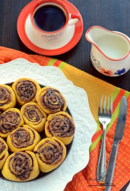 Pumpkin  Chocolate CinnamonRolls