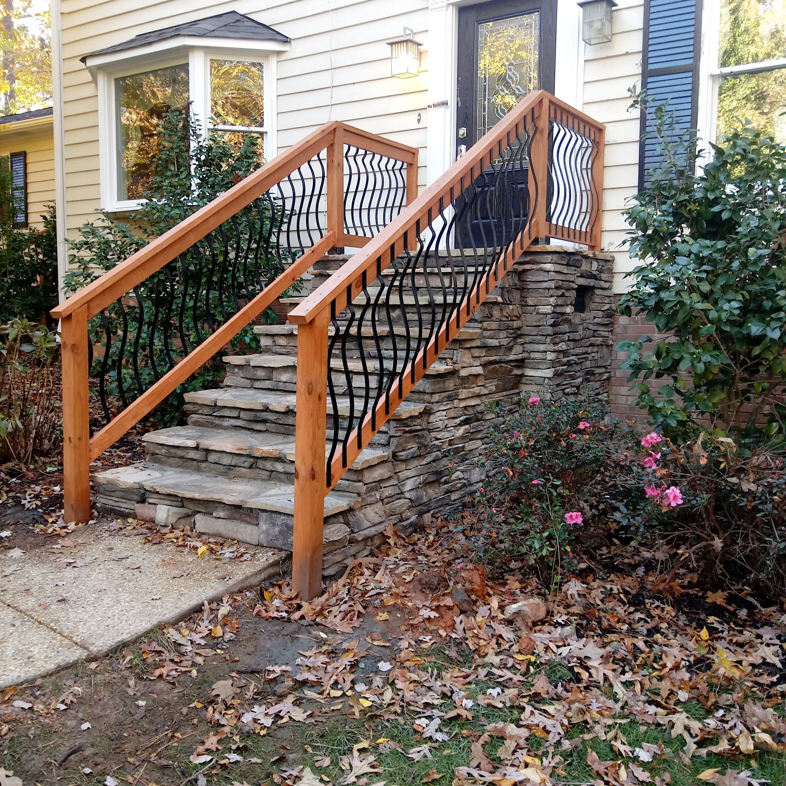 outdoor stone steps