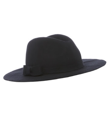 Sainsburys TU Clothing WOmens Black Felt Fedora