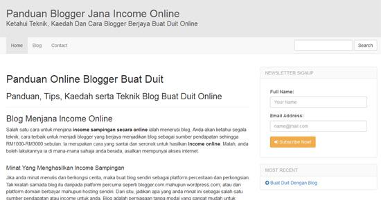 Cara Mudah Pantas Bina Website Affiliate Sendiri