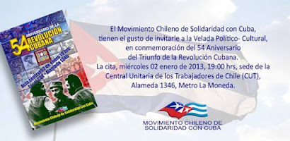 INVITACIÓN 54 ANIVERSARIO DE LA REVOLUCIÓN CUBANA