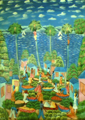 Haitianarts panoramic painting of las galeras