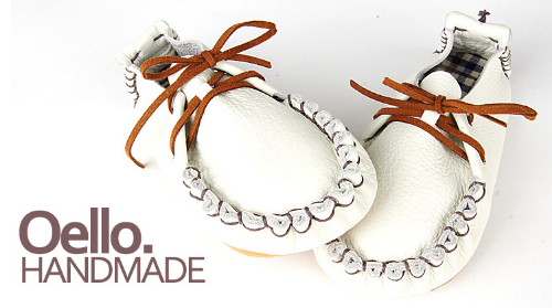 Oello Handmade Natural Leather Toddler Shoes