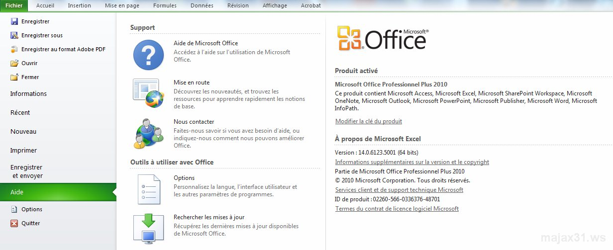 microsoft office professional plus 2007 cle dactivation
