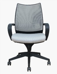 Sweetwater Gray Mesh Conference Chair by Woodstock
