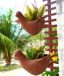 Pássaros pendentes