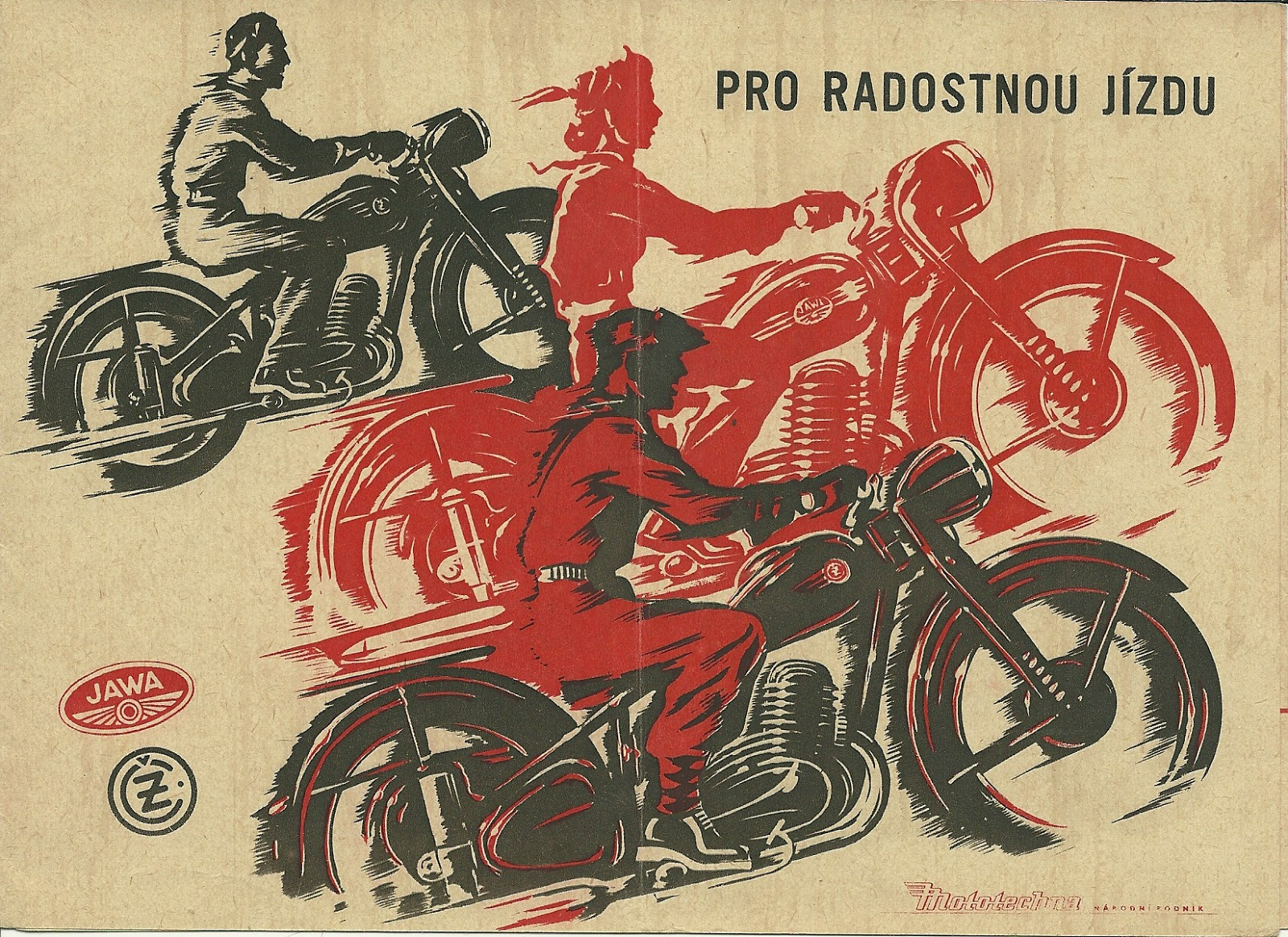 Plakat reklamowy Jawa