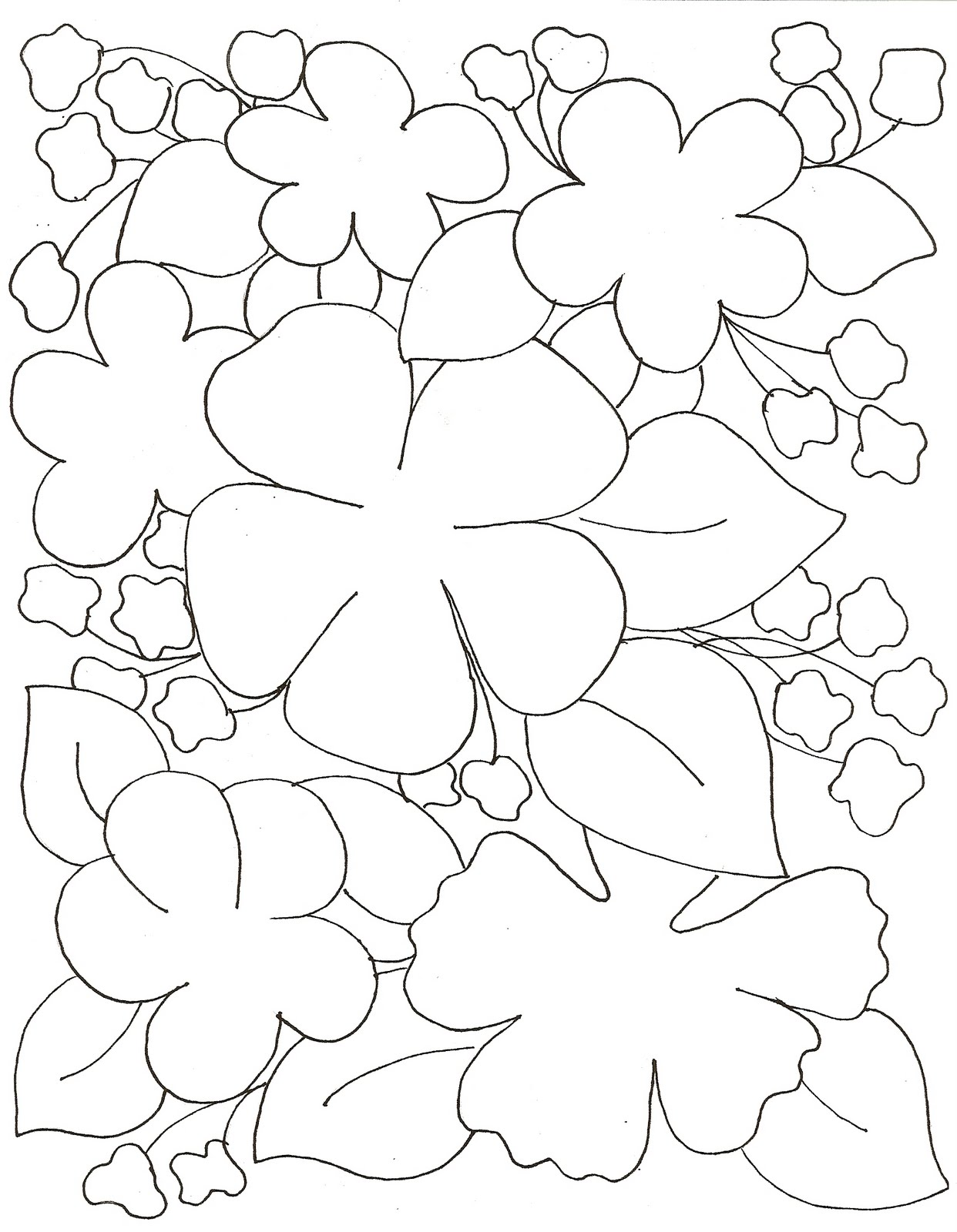 Exceptional image pertaining to printable flower pattern