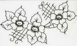 flores e arabescos
