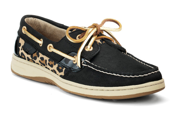Black Sperry Boat Shoes With Microfoam