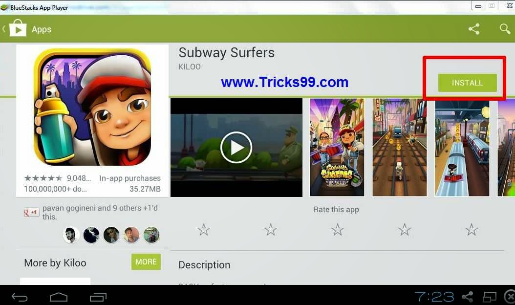 have successfully installed subway surfers games in your pc/laptop