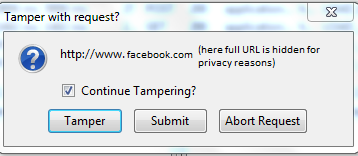 Temper With Request Confirmation Window