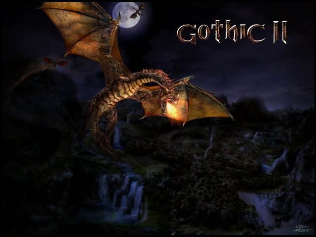MSPaint topic Gothic2dragon