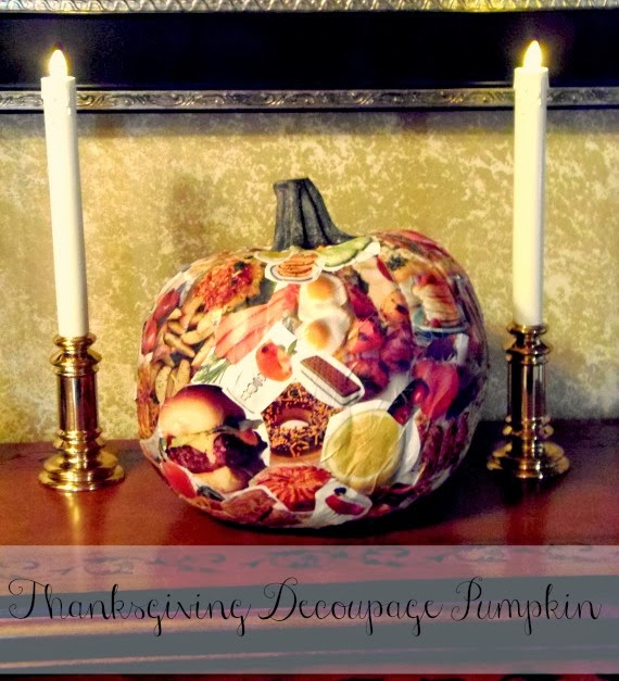 How to decoupage a funkin pumpkin
