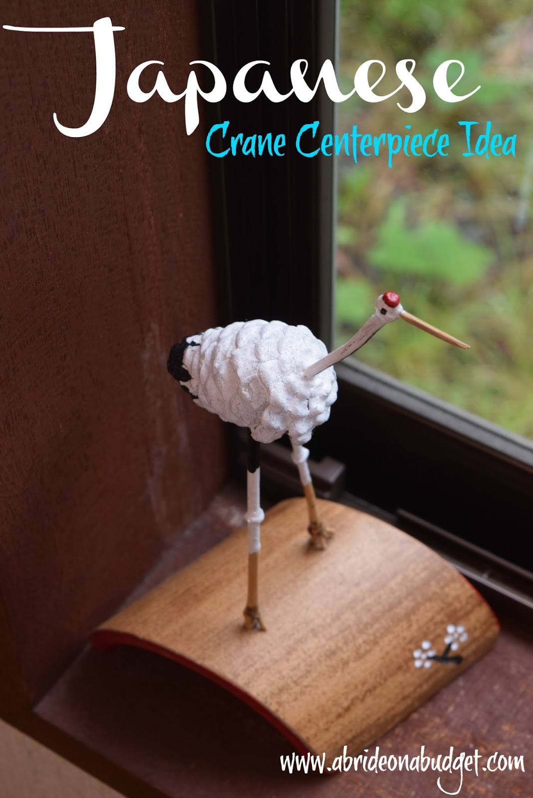 Japanese Crane Centerpiece Idea A Bride On A Budget