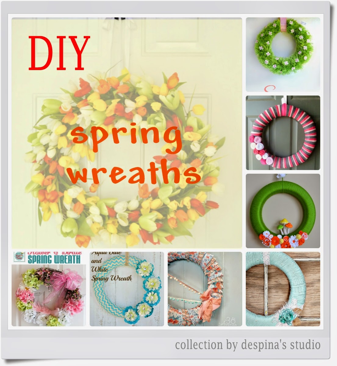 8 Diy Spring Wreaths Tutorials 8