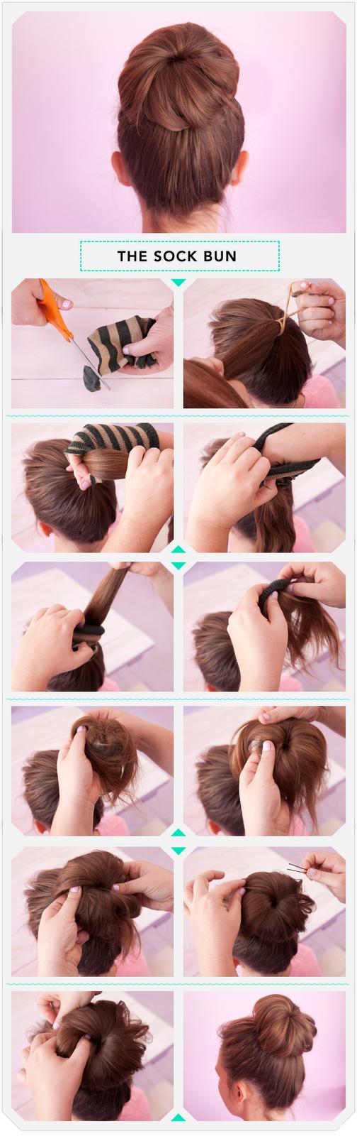Как сделать пучок самой себе с бубликом