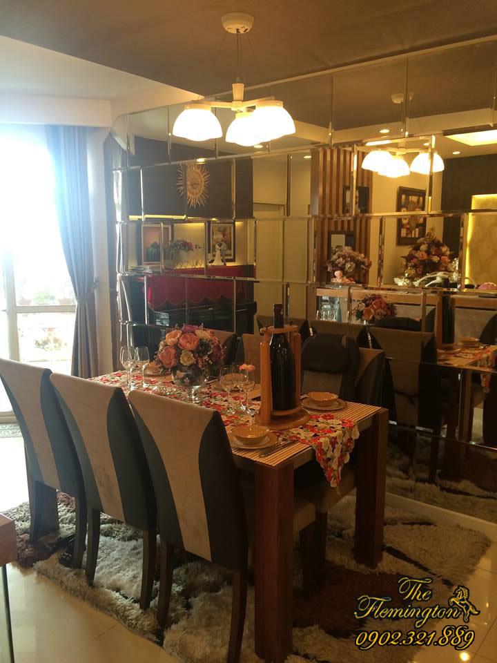Cho thuê căn hộ Flemington giá rẻ diện tích 116m2 | Bàn ăn