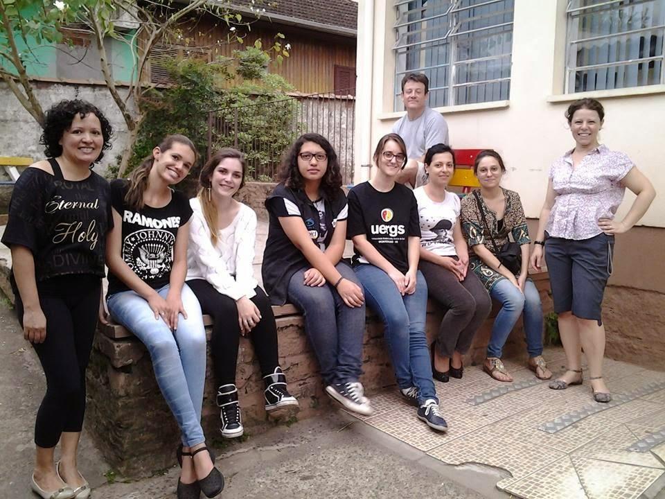 Grupo Pibid-Artes Visuais em out.2014