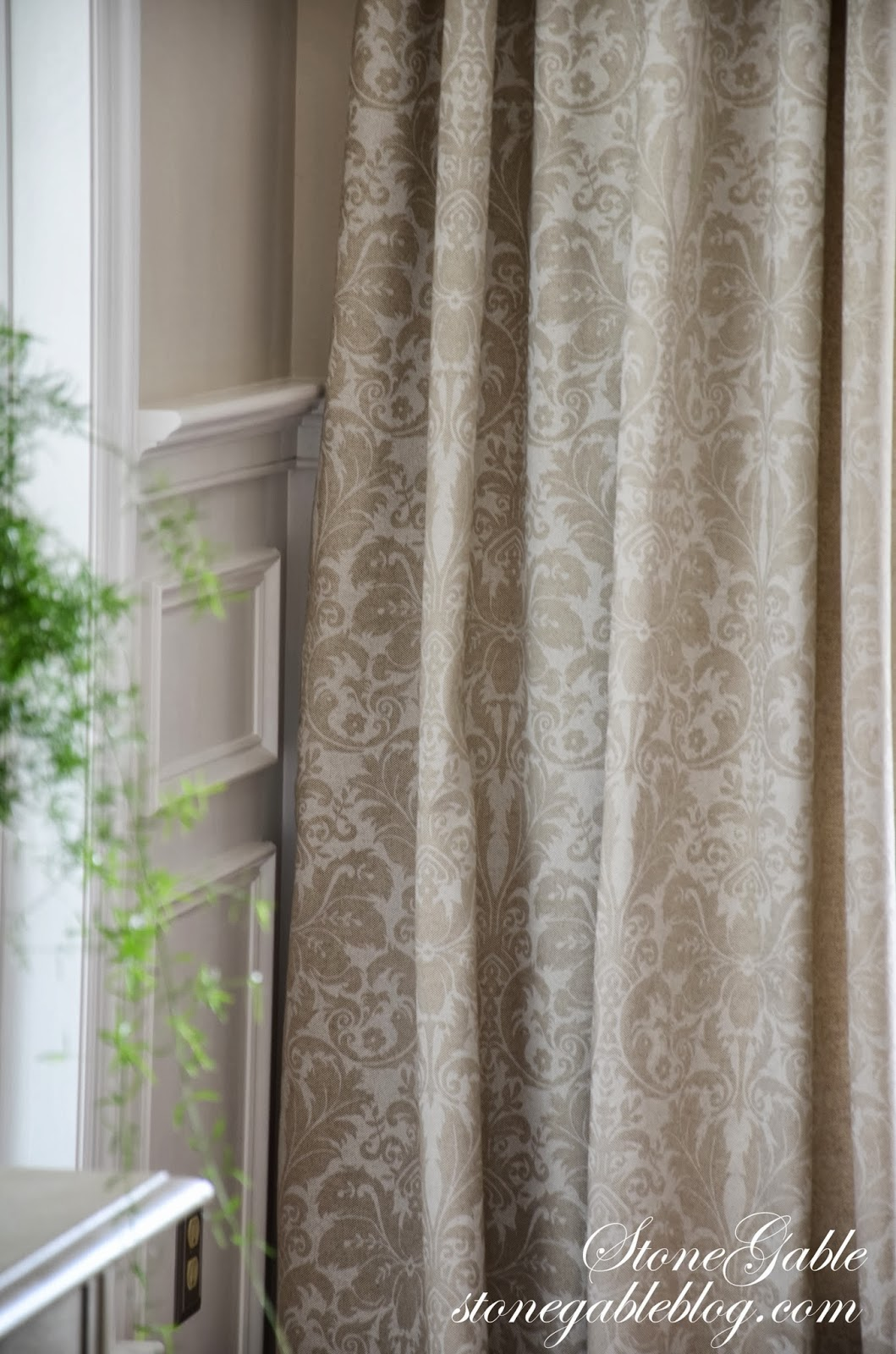 Dining room curtains stonegable for Ideas for dining room curtains