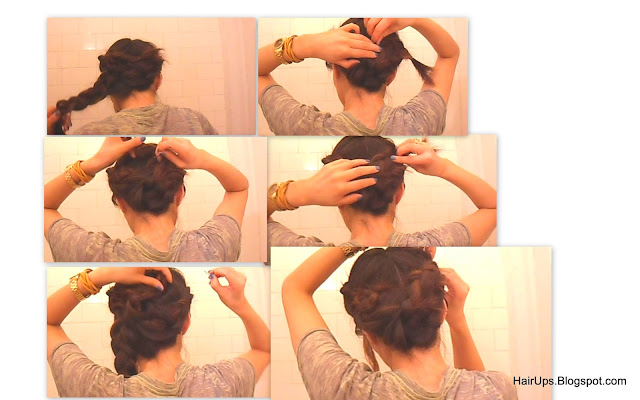 Wrap+around3 Hairstyles: HOW TO FRENCH BRAID WRAP AROUND UPDO ON LONG HAIR