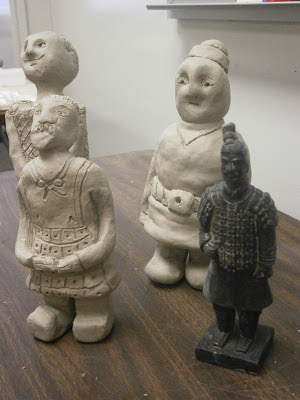 Student made Terra Cotta Warriors Art Lesson