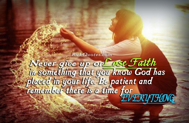 Life Quotes Faith never give up Girl with water playing