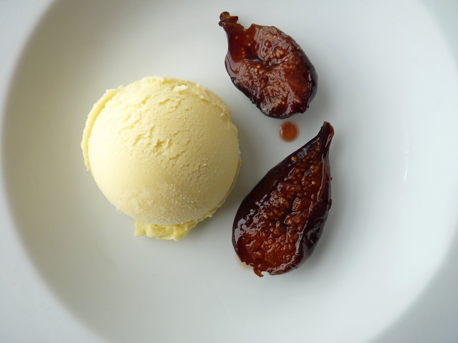 Roasted Figs with Fennel Ice Cream