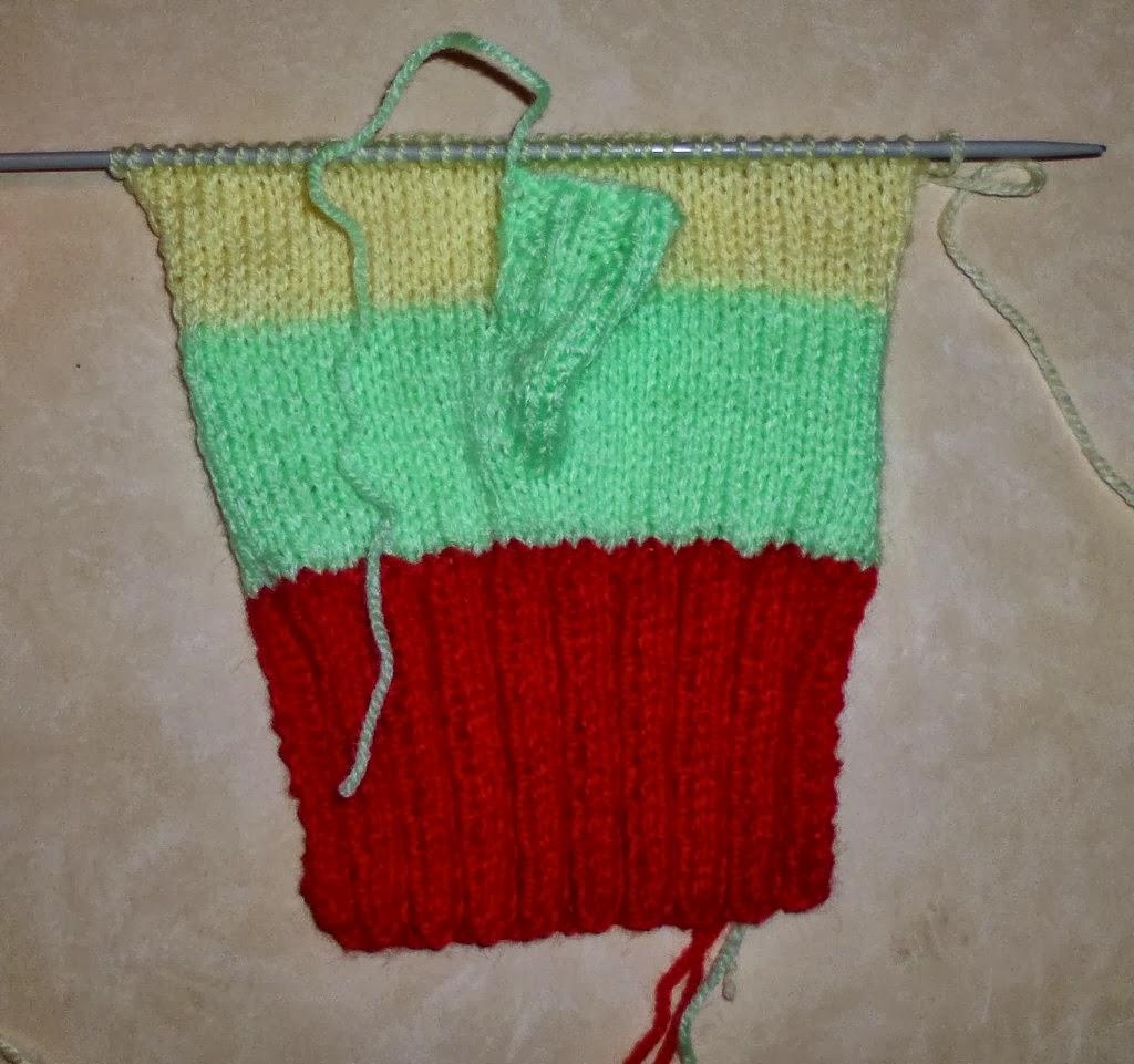 Comment tricoter des gants avec doigts - Tricoter sans aiguilles ...