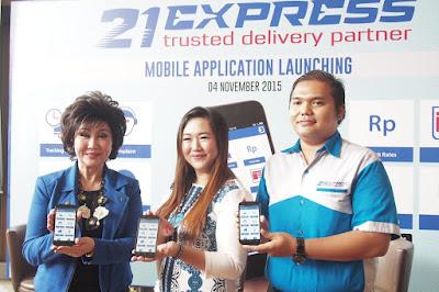 Aplikasi mobile pengiriman barang 21Express.