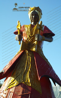 Orixás Candomble statue in dique do tororo