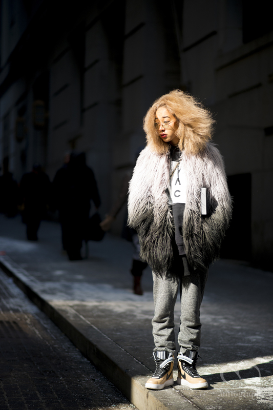 Singer Thelma Aoyama attends to Hood By Air 2015-2016 Fall Winter show during New York Fashion Week NYFW
