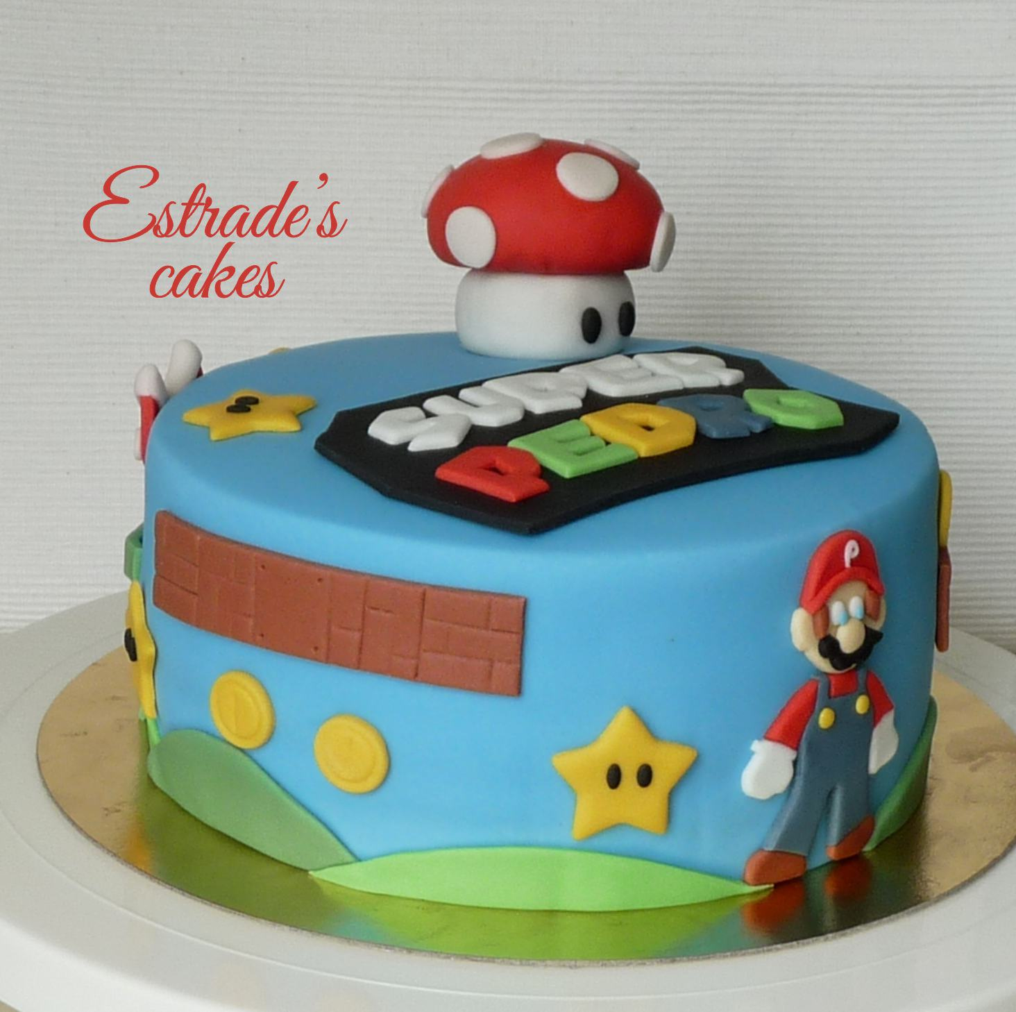 Tarta de Mario Bros sin lactosa - 2