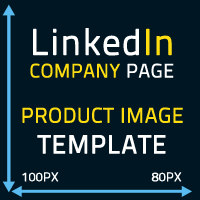 Linkedin company page product image template