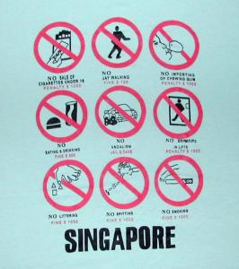 Singapore Many regulations