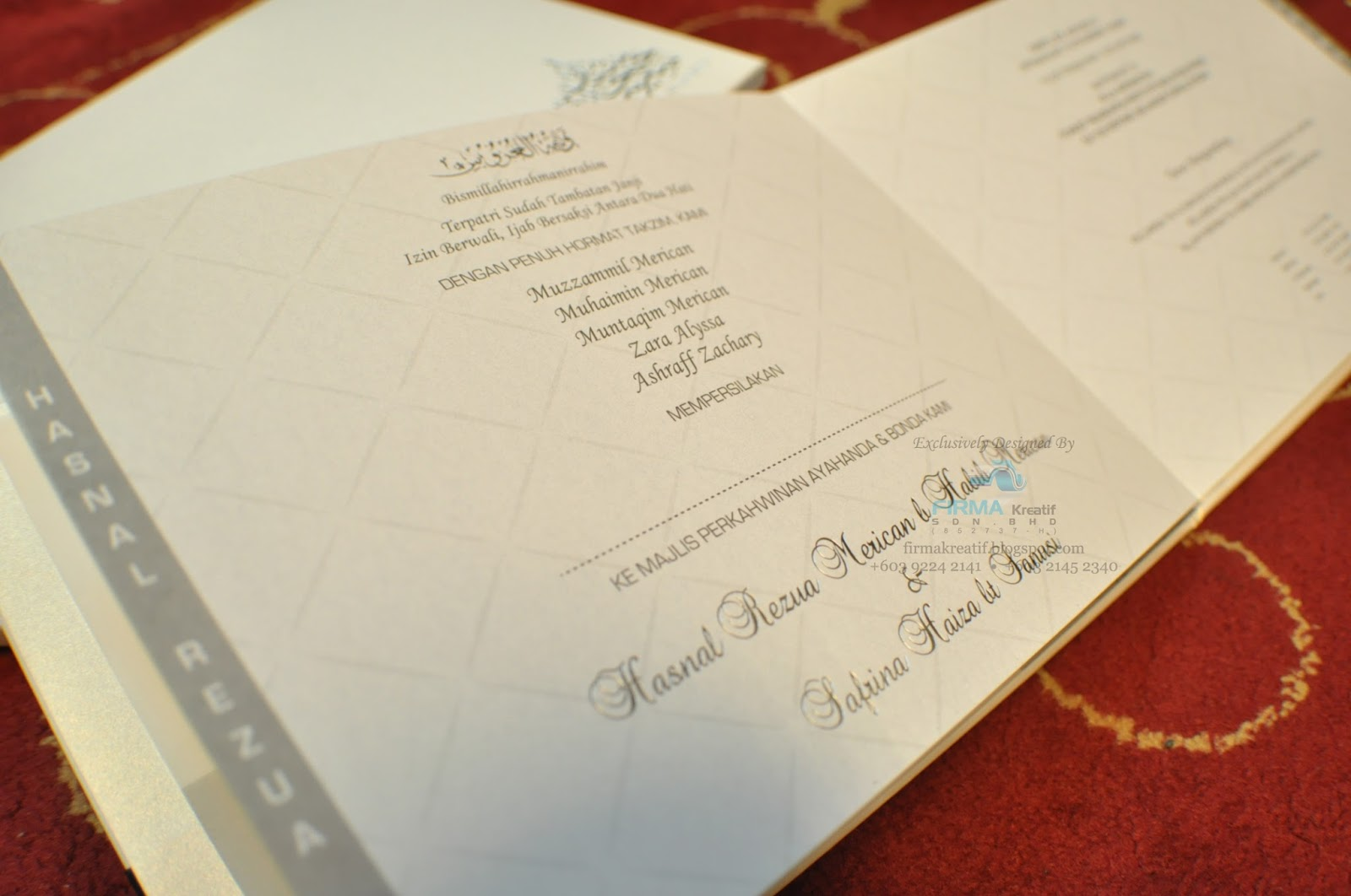 Wedding card hardcover safrina hasnal firma kreatif sdn bhd wedding stopboris Gallery