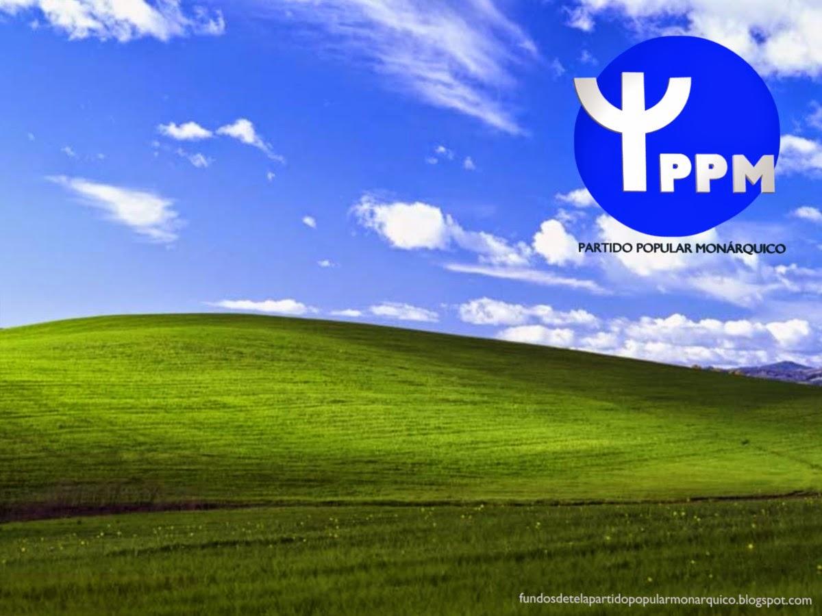Partido Popular Monárquico emblema Frontal do PPM para utilizar como fundo de tela do seu ambiente de trabalho