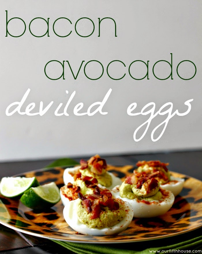 bacon avocado deviled eggs