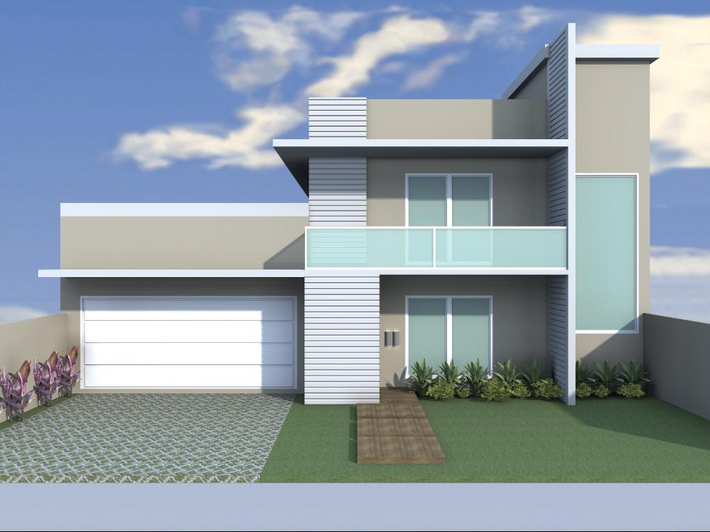 Arquitetura e Interiores: Projeto arquitetônico Residência #3F5B8C 1024 768