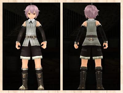 冒険者の服 灰色1 軽量化(男)