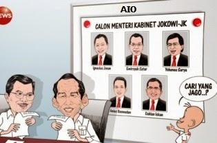 Kabinet Kerja Jokowi-JK 2014-2019 Terbaru